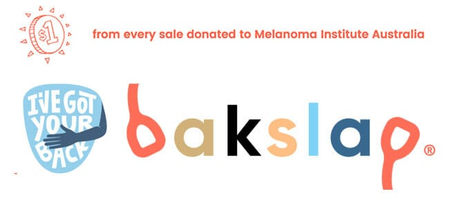 bakslap logo with caption in footer section