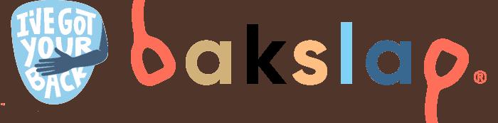 bakslap logo with I've got your back shield