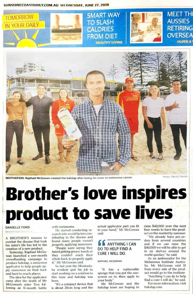 Sunshine Coast Daily - Bakslap and local supporters news